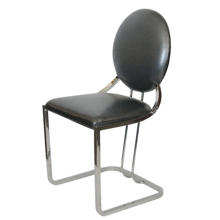 Rare Early Gilbert Rohde Armless Desk Chair In Pewter