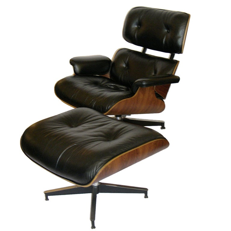 eames original rosewood 670 and 671 lounge chair and ottoman at 1stdibs. Black Bedroom Furniture Sets. Home Design Ideas