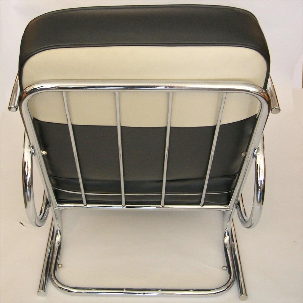 Streamline Moderne Art Deco Tubular Chrome Chair At 1stdibs