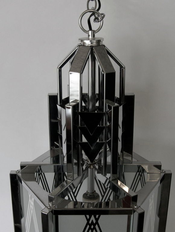 Great Art Deco Revival Pendant Light 3 Available image 2