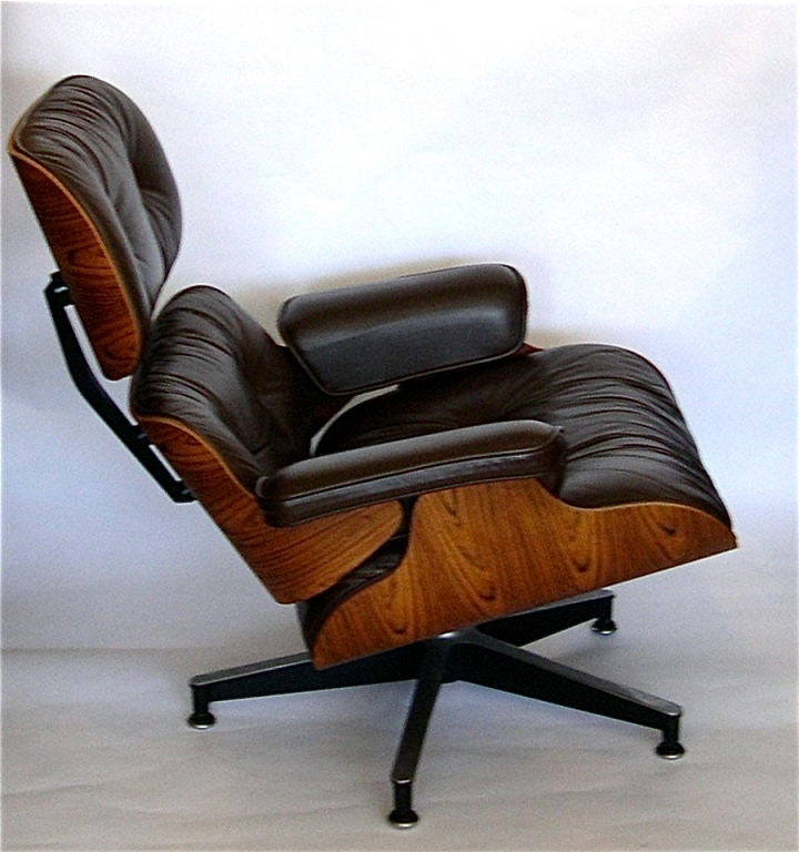 eames original rosewood 670 lounge chair and 671 ottoman