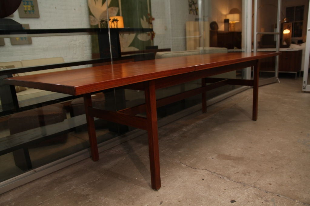 Jens Risom extra long walnut dining table 4
