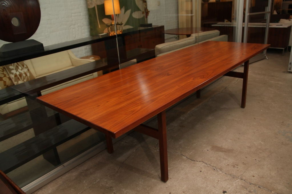 Jens Risom extra long walnut dining table 3