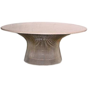 Warren Platner MARBLE TOP Coffee Table At 1stdibs