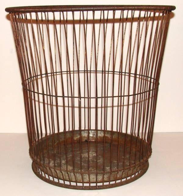 Vintage Wire Basket At 1stdibs