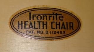 American Ironrite Health Chair For Sale
