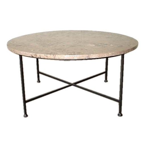 Marble top coffee table at 1stdibs One of a kind coffee tables
