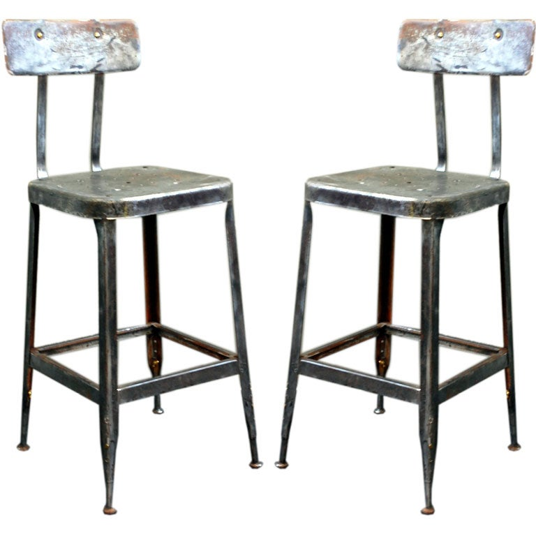 Pair of adjustable industrial bar stools 1  sc 1 st  1stDibs & Pair of adjustable industrial bar stools at 1stdibs islam-shia.org
