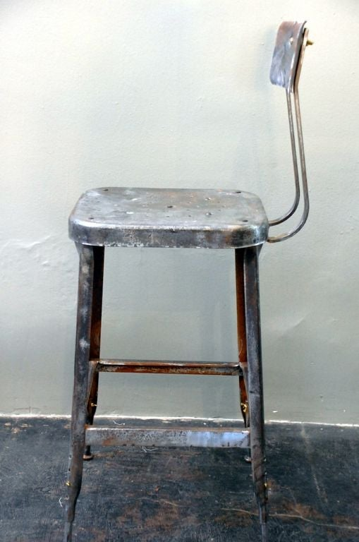 Pair of adjustable industrial bar stools at 1stdibs : stool2 from 1stdibs.com size 509 x 768 jpeg 52kB