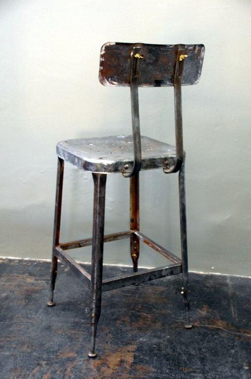 Pair of adjustable industrial bar stools at 1stdibs : stool3 from www.1stdibs.com size 509 x 768 jpeg 51kB