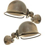 Pair of French industrial sconces by Jielde