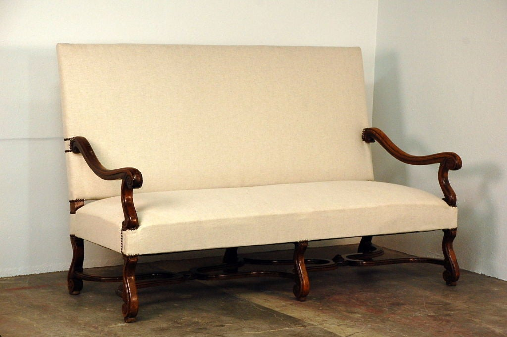 Very large louis xiv style carved wood sofa at 1stdibs - Louis xiv sofa ...