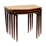 Set of Japanese rosewood nesting tables