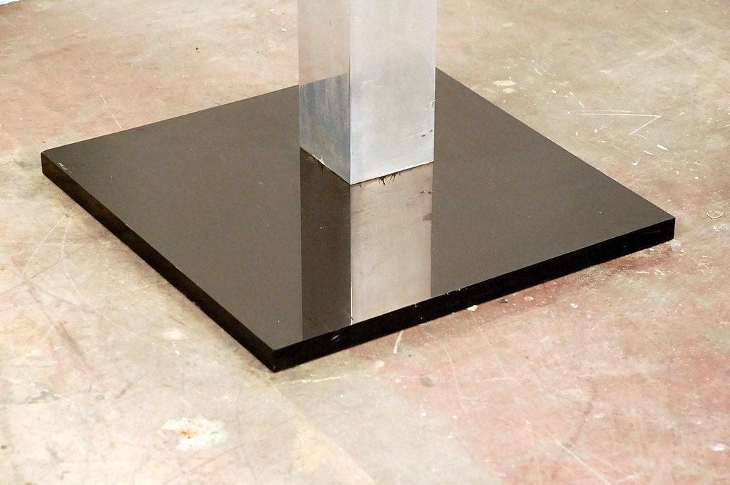 Aluminum Tall Brutalist Sculpture For Sale