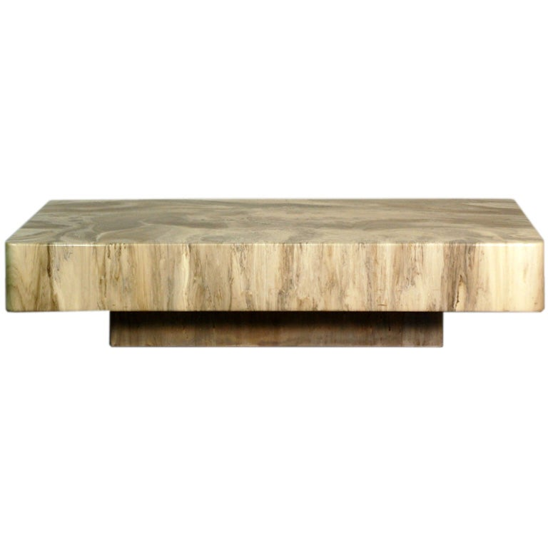 Faux Stone Coffee Table: Spectacular Faux Marble Resin Coffee Table By Arthur Elrod
