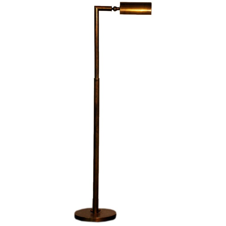Classic articulated modernist brass reading lamp at 1stdibs for Classic floor reading lamp