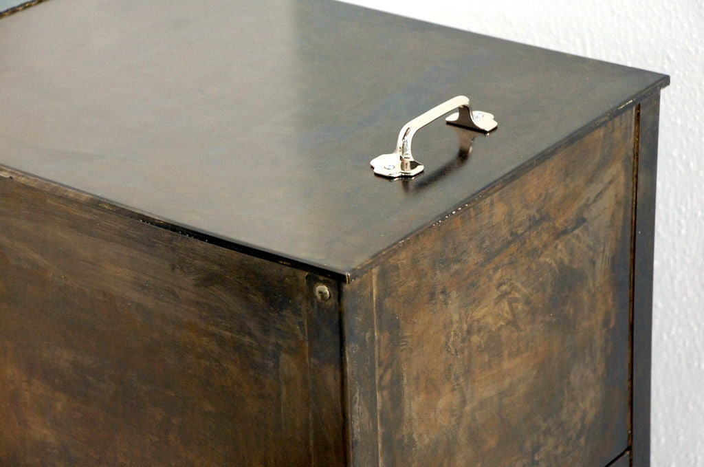 Pair of patinated steel industrial night stands at 1stdibs