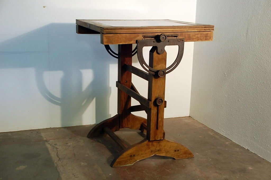 Industrial Drafting Table Breakfast Bar Table At 1stdibs