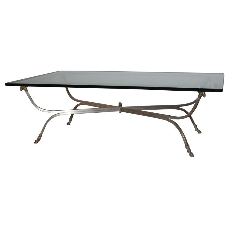 This GLASS AND METAL COFFEE TABLE Is No Longer Available