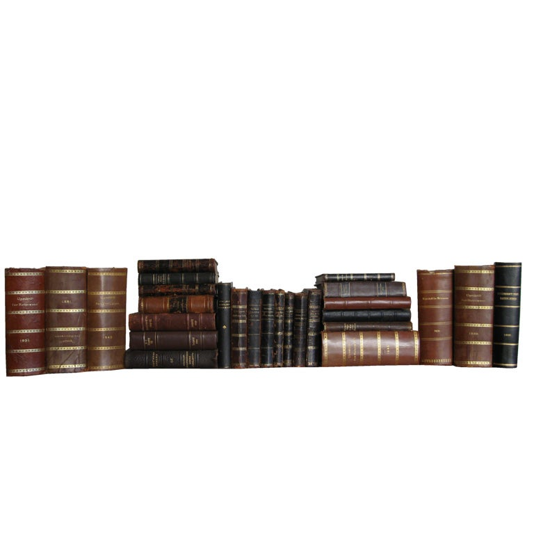 SET OF FORTY  ANTIQUE BOOKS