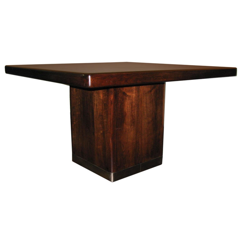 WALNUT SQUARE DINING TABLE at 1stdibs