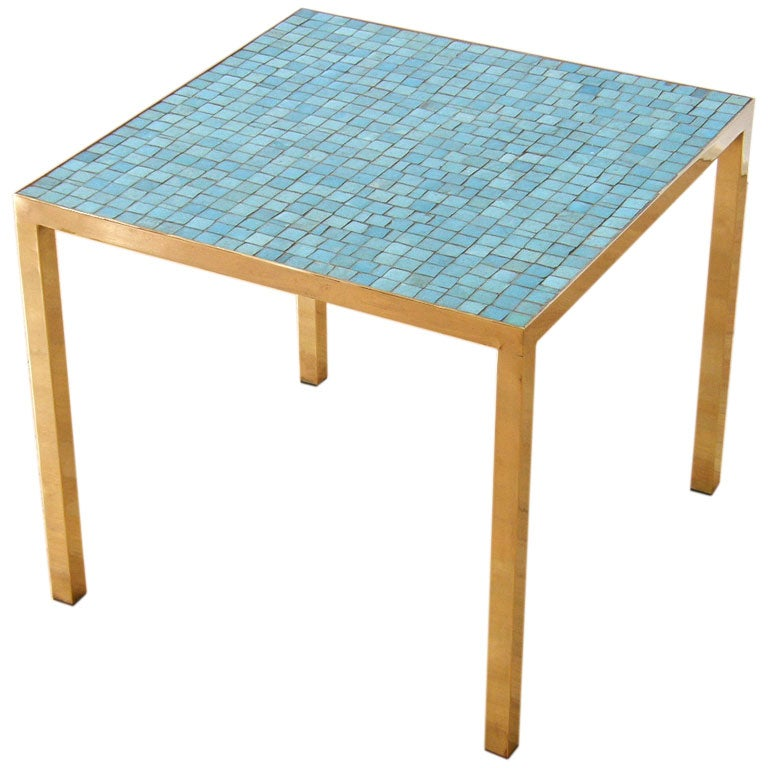 Italian Glass Tile Table At 1stdibs