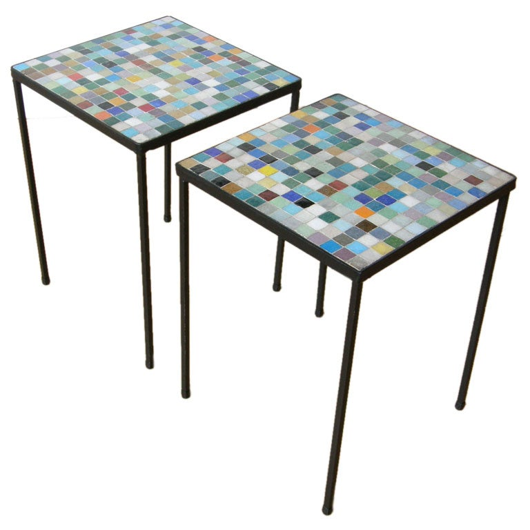 Italian Glass Tile Tables At 1stdibs
