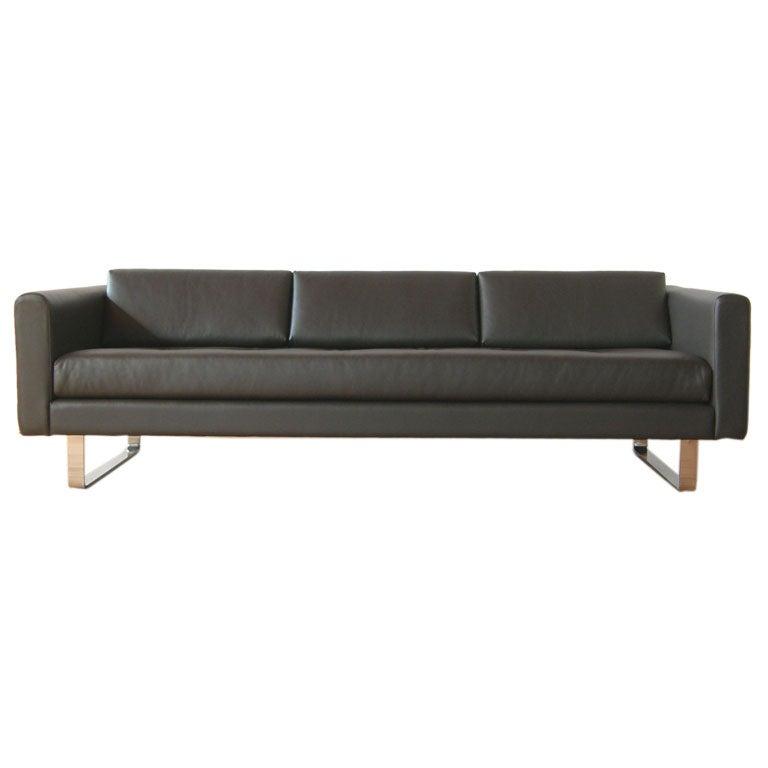 Directional Leather Sofa