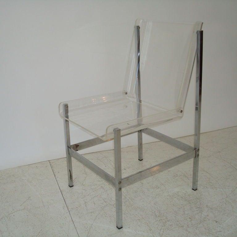 Italian Lucite Desk Chair at 1stdibs