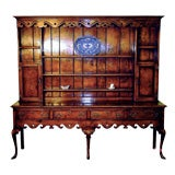English Handcrafted Welsh Dresser With Shelves.