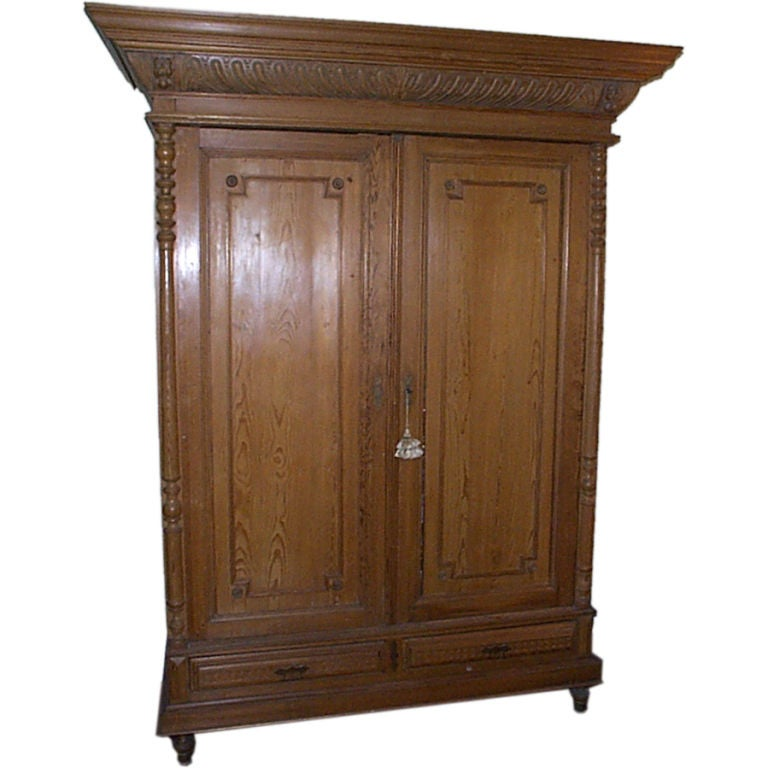 english pine armoire at 1stdibs. Black Bedroom Furniture Sets. Home Design Ideas