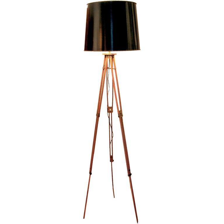 interesting tripod floor lamp at 1stdibs