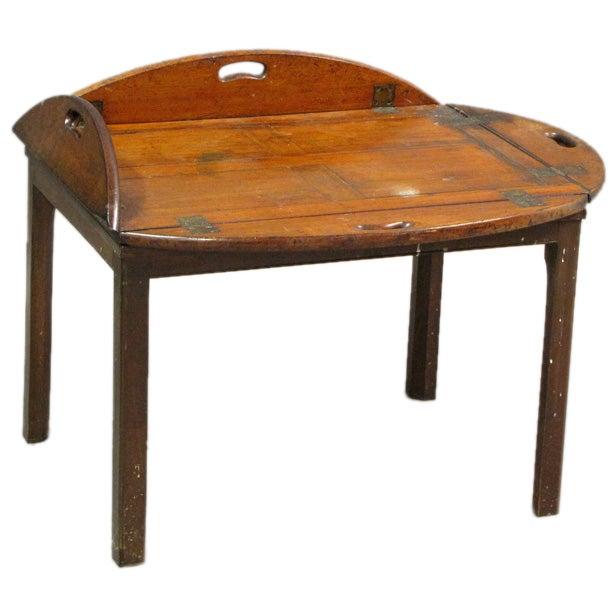 Georgian mahogany butlers tray table at 1stdibs Butler coffee tables