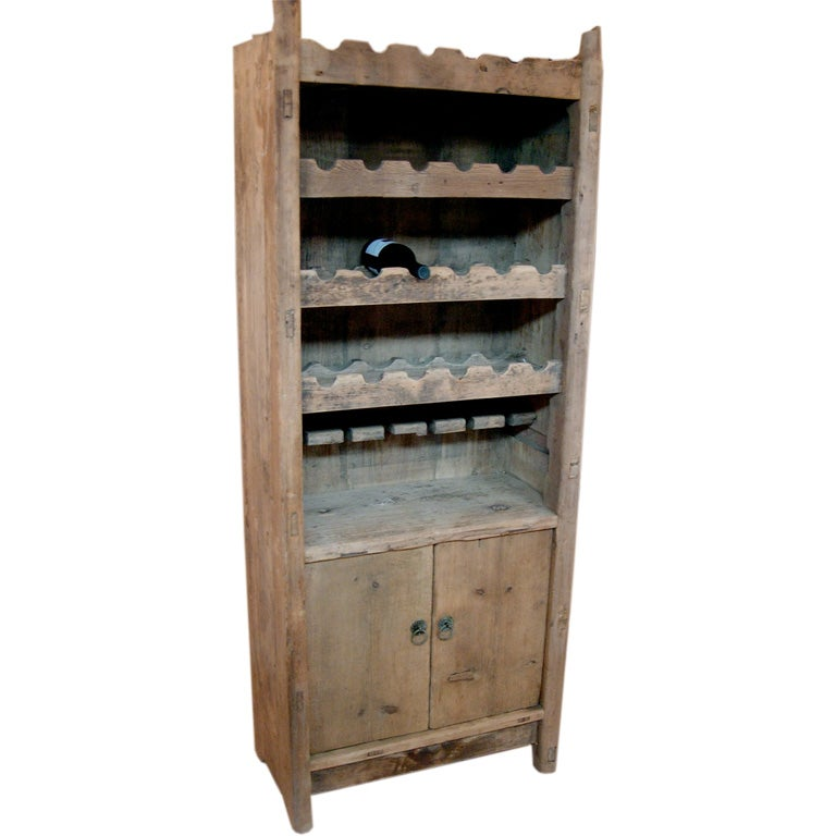Reclaimed Wood Wine Cabinet At 1stdibs