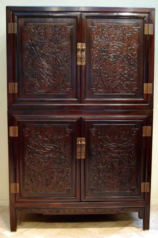 carved kitchen cabinet doors compound cabinet with carved doors at 1stdibs 5130