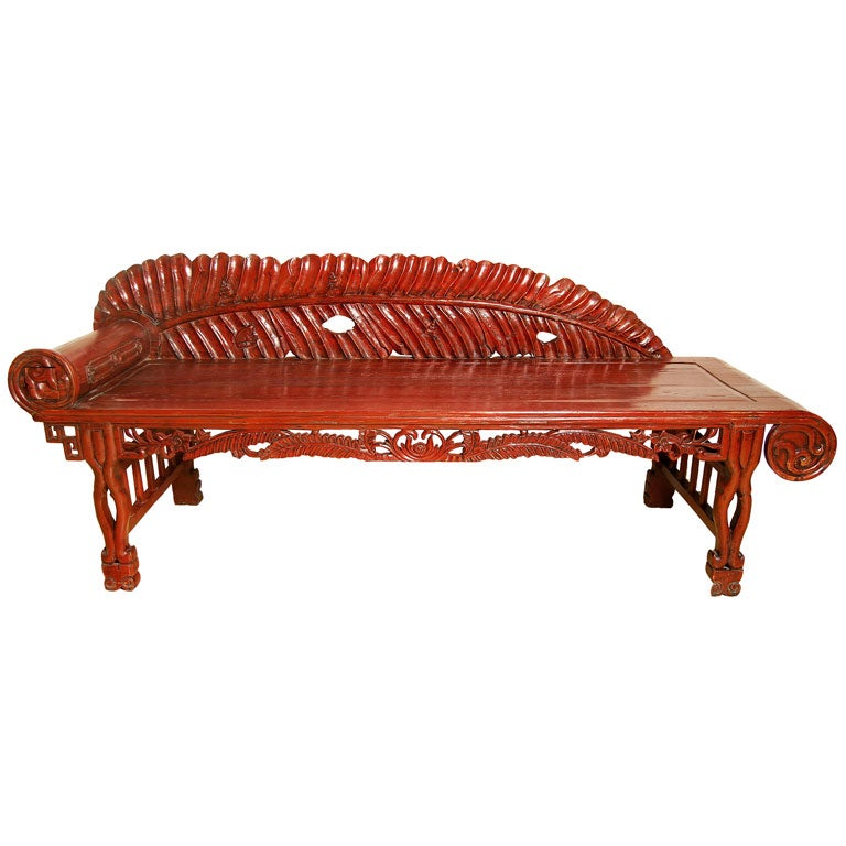 Red lacquered chaise lounge at 1stdibs for Chaise lounge chicago
