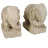 Pair of Stone Elephants