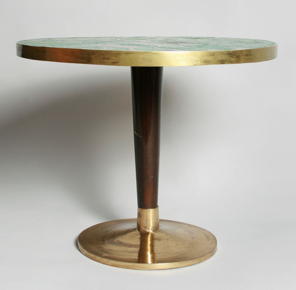 interesting inlaid side table at 1stdibs