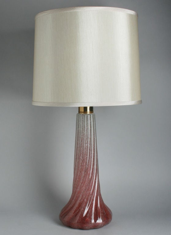 unusual murano lamp with silver accents for sale at 1stdibs