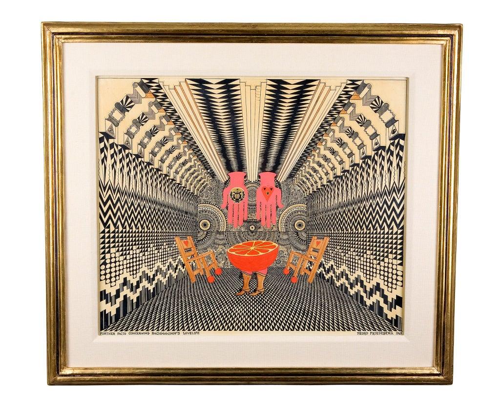 Pedro Friedeberg Original Art Work