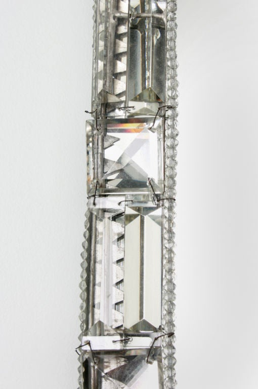 FABULOUS Large Pair of Crystal Mirrored Candle Sconces at 1stdibs