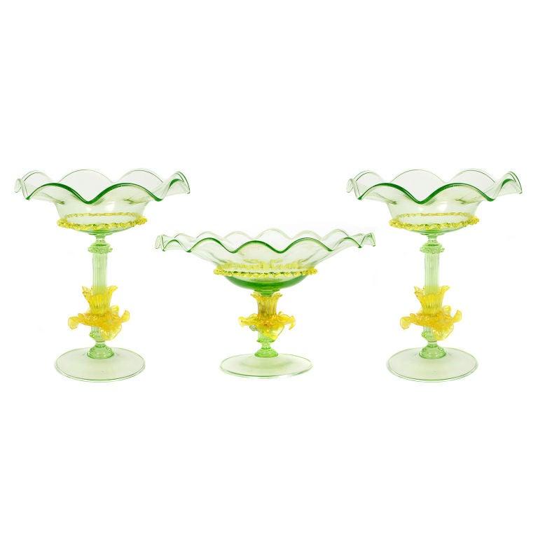 Antique Glass Furniture Coasters
