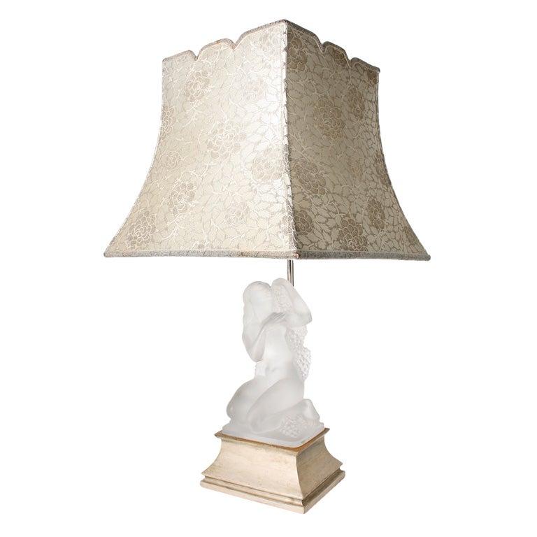 Lalique Lamp Quot Automne Quot At 1stdibs