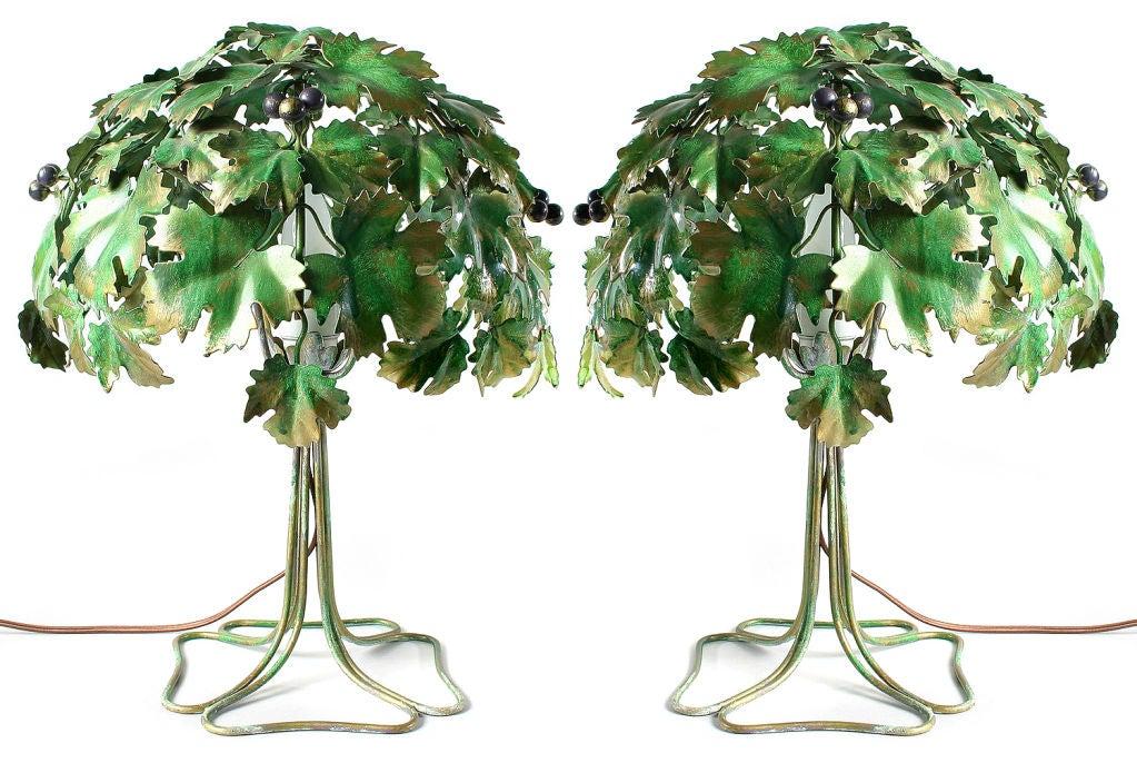 Pair Of Italian Tole Tree Lamps At 1stdibs