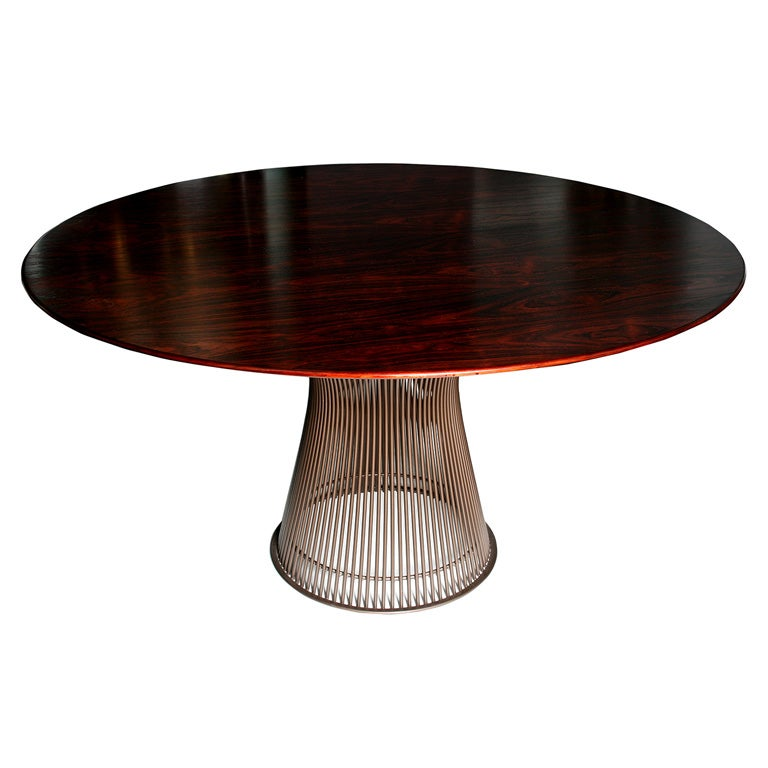 Warren Platner Rosewood Topped Dining Table For Knoll At 1stdibs