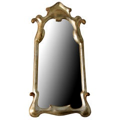 Silver Leafed Fantasy Mirror with Gold Accents