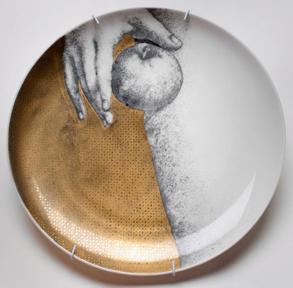 Fornasetti Eva Ceramic Plates At 1stdibs