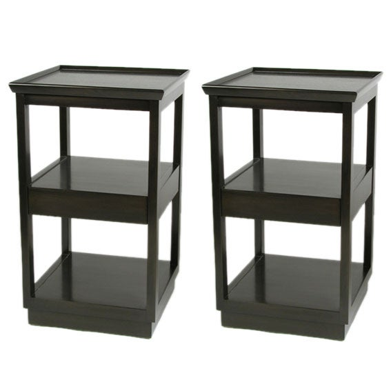 Pair of Edward Wormley End Tables with Drawer