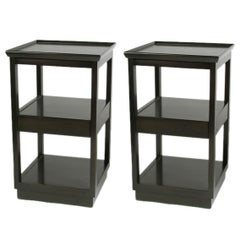 Pair of Edward Wormley for Drexel Precedent Collection End Tables with Drawer