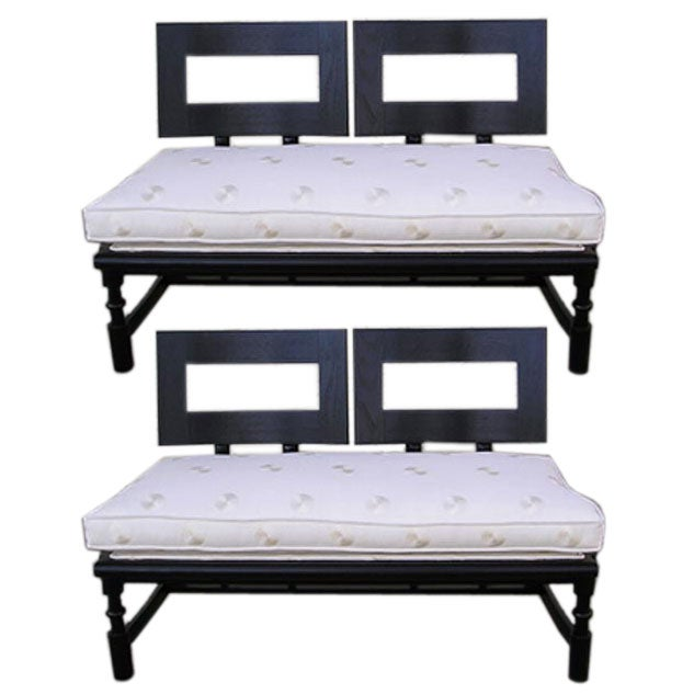 French Bench with Open Back For Sale